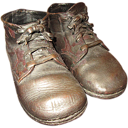 Bronzed child / doll shoes