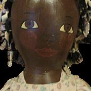 Large Vintage Black Primitive painted cloth doll