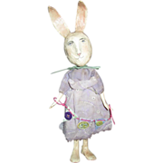 SOLD Primitive sculpted Bunny Rabbit OOAK