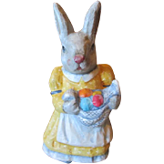Vintage Bunny Rabbit paper mache mama
