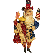 SOLD Amazing  Uncle Sam Santa