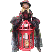 SALE Enchanting Santos cage doll Witch original one of a kind for Halloween