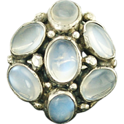 Antique Arts and Crafts Moonstone Sterling Silver Ring