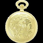 Vintage 14k Gold Le Soir 17 Jewel Swiss Made Pocket Watch