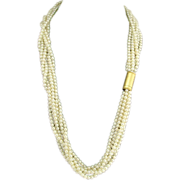 Vintage House of Buccellati Pearl Torsade with 18k Gold Clasp
