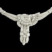 SOLD Vintage Diamond Platinum Necklace