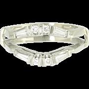 Estate Diamond 14K White Gold Ring Guard