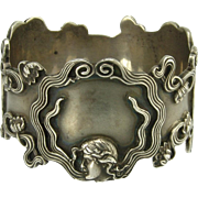 Handsome Sterling Silver Art Nouveau Napkin Ring