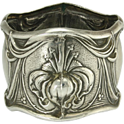 Beautiful Frank Whiting Sterling Silver Art Nouveau Napkin Ring