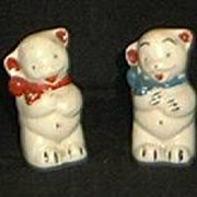Pair Of Bear Salt And Pepper Shakers