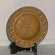 Carlsberg Beer Promotional Pottery Ashtray