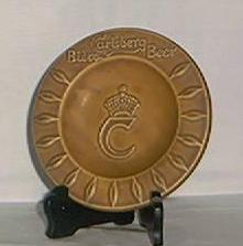 Carlsberg Beer Promotional Pottery Ashtray
