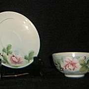 SALE Hand Painted Nippon Cup and Saucer