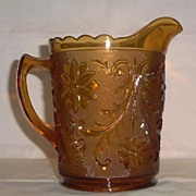 """Tiara Pitcher in the """"Sandwich"""" Pattern by Indiana Glass Company"""
