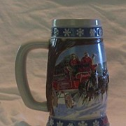 "Budweiser Holiday Stein, ""Lighting The Way Home"" 1995"