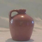 Miniature Pottery Mauve Handled Jug