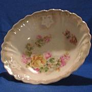 Rose Decorated German Porcelain Bowl
