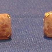 Swank Pink And Mauve Stone Cuff Links