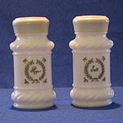 Pair Of Milk Glass Salt And Pepper Shakers