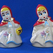 "Hull ""Red Riding Hood"" Salt And Pepper Shakers"