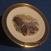 Beaver Family Boehm Design Plate From Lenox