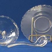 Fostoria Century Pattern Mayo Bowl, Plate, And Ladle