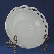 Imperial Milk Glass Open Edge Bowl
