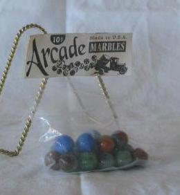 """Sealed Package Of """"Arcade"""" Marbles"""