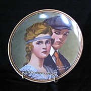 """Knowles China Norman Rockwell Plate """"Meeting On The Path"""""""