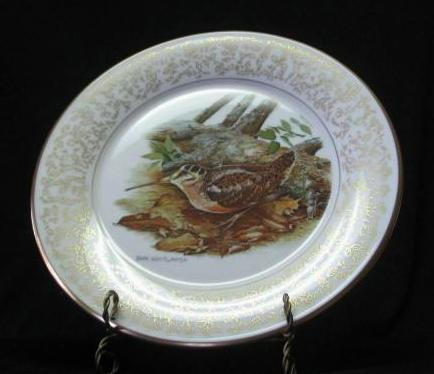 """Gorham Fine China """"American Woodcock"""" Collector Plate"""