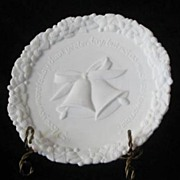 Fenton Satin Milk Glass Wedding Plate