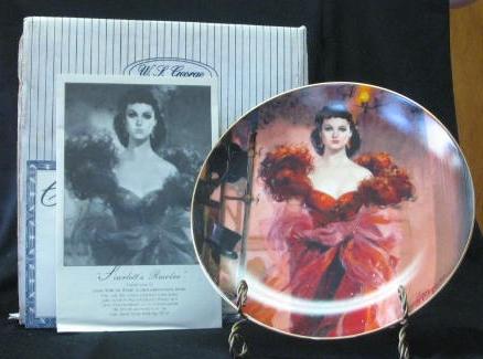 "W S George Plate Titled ""Scarlett's Resolve"""