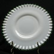 Fenton Emerald Crest Plate Number 7212