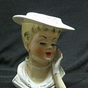 Inarco Head Vase With Hand On Woman's Cheek