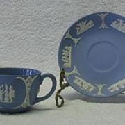 Wedgwood Jasperware Light Blue Cup And Saucer