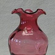 Cranberry Inverted Thumbprint Vase