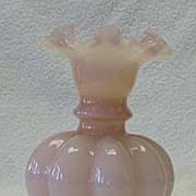 Fenton Large Rose Overlay Vase