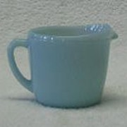 Fire King Turquoise Blue Creamer