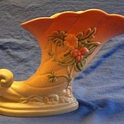 Hull Pottery Wildflower Cornucopia Vase