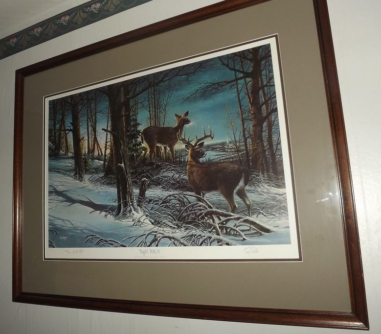 "Terry Redlin ""Night Watch"" Artist Proof 188/240"