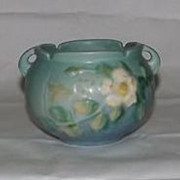 Roseville Pottery White Rose Jardiniere 653-3