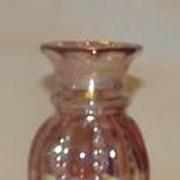 SOLD Fenton Iridescent Mulberry Melon Bud Vase