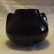 Gloss Black Unmarked Brush McCoy Fawn Vase