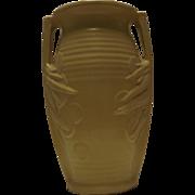 McCoy Pottery Yellow Sand Dollar Two Handled Vase