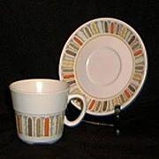 "Noritake Progressive China ""Mardi Gras"" Cup And Saucer"