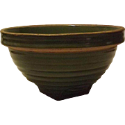 McCoy Pottery Ring Decorated Mixing Bowl With Shield Mark