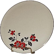 "Hall ""Poppy"" Pattern Cake Plate"