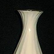 White Swirl Ceramic Vase