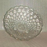 "Indiana Glass ""Whitehall"" Large Three Toed Bowl"