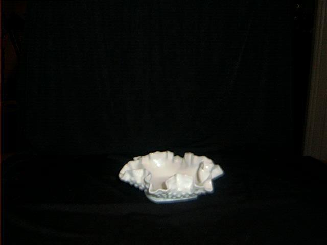 Hobnail Milk Glass Candy Dish